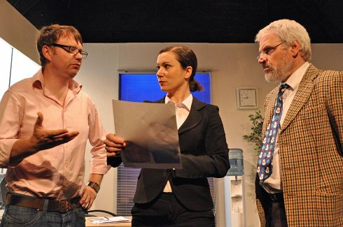 Andy Nash, Emma Williams and Jim Markey in Damages by Stephen Thompson