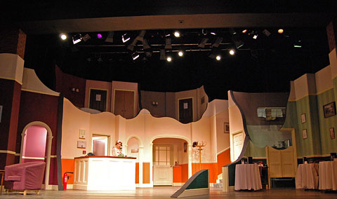 Photo of the set for Fawlty Towers at Hertford Theatre