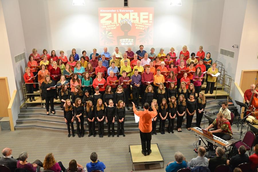 Photo of choir performing